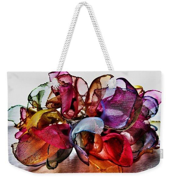 Organza Petals Weekender Tote Bag