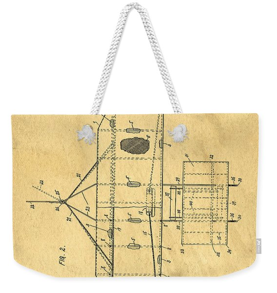 Original Patent For Wright Flying Machine 1906 Weekender Tote Bag