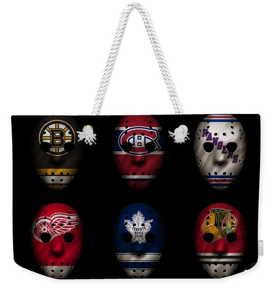 Original Six Jersey Mask Weekender Tote Bag