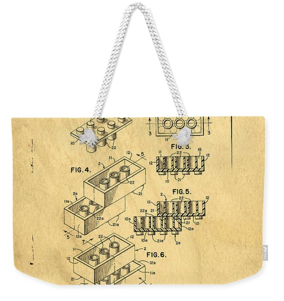 Original Us Patent For Lego Weekender Tote Bag