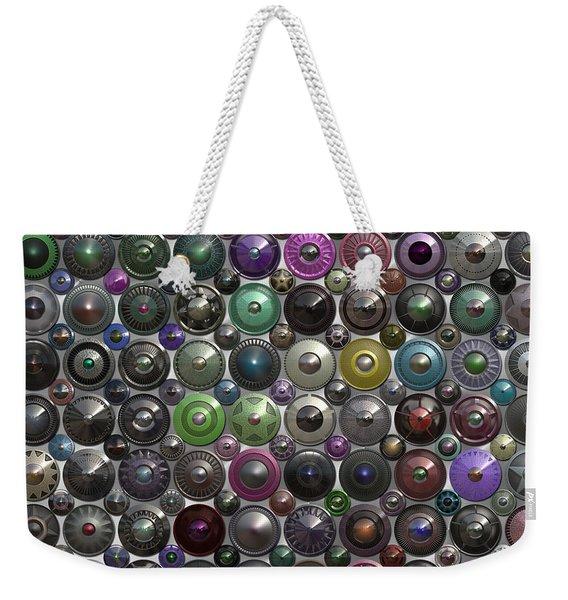 Ornamental Hubcaps Weekender Tote Bag