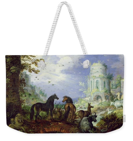Orpheus Charming The Animals, 1626 Weekender Tote Bag