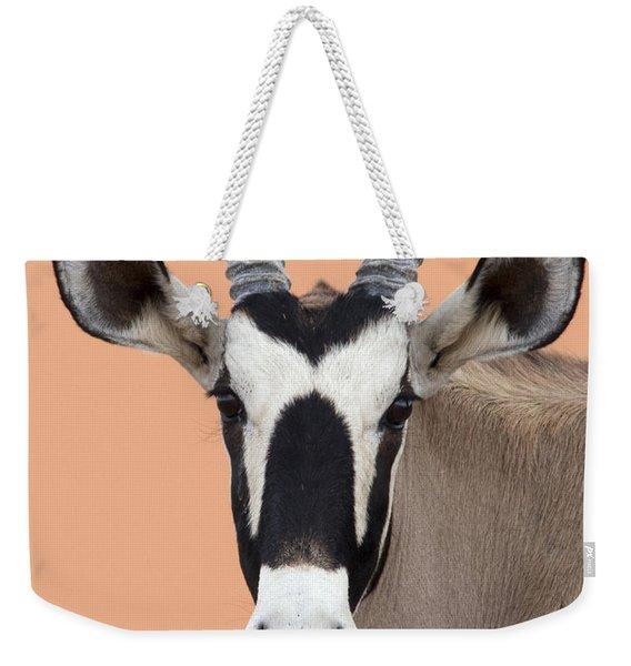 Oryx Portrait Namibia Weekender Tote Bag