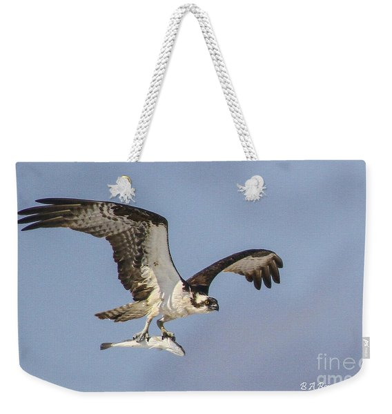 Osprey With Dinner Weekender Tote Bag