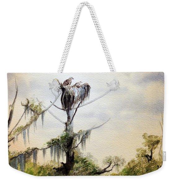 Ospreys Nesting Wakulla River Weekender Tote Bag