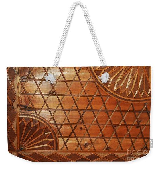 Ottoman House Wood Ceiling Weekender Tote Bag