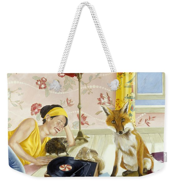 Our Fabulous Babysitter Acrylic & Oil On Canvas Weekender Tote Bag