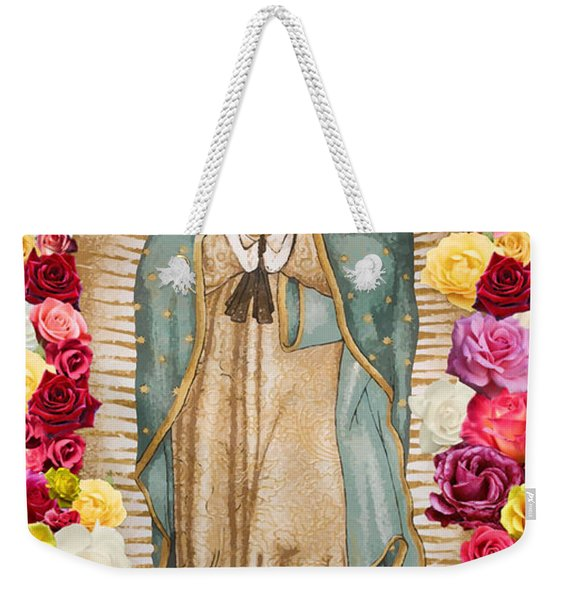 Our Lady Of Guadalupe Weekender Tote Bag