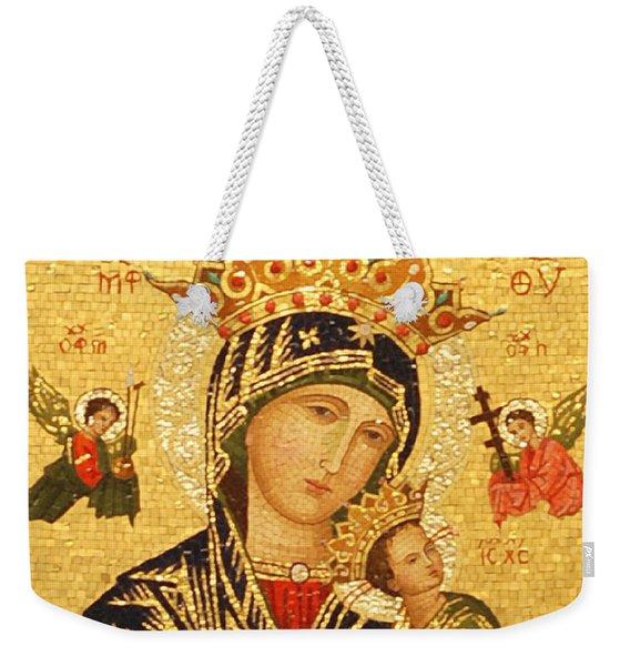 Our Lady Of Perpetual Help  Weekender Tote Bag