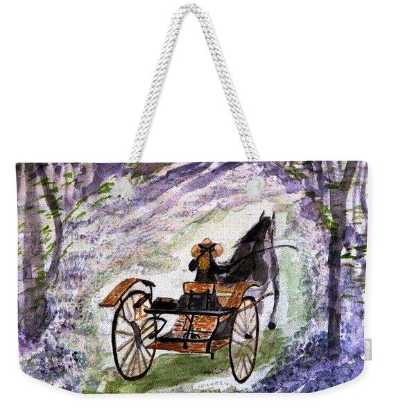 Out In The Meadowbrook Cart Weekender Tote Bag