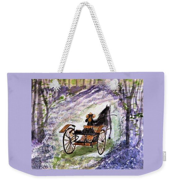Out In The Meadowbrook Cart Weekender Tote Bag