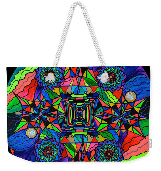 Out Of Body Activation Grid Weekender Tote Bag