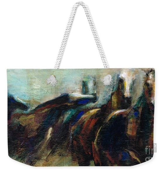Out Of The Blue Into Reality Weekender Tote Bag