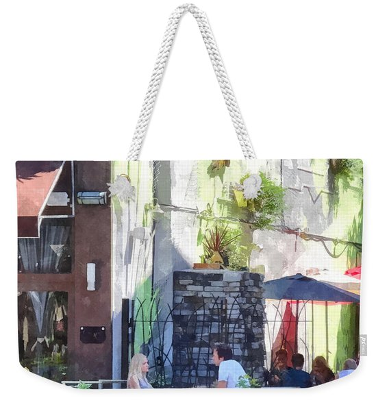 Outdoor Cafe Philadelphia Pa Weekender Tote Bag