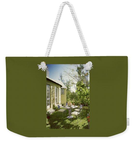 Outdoor Furniture At Shoreland House Weekender Tote Bag