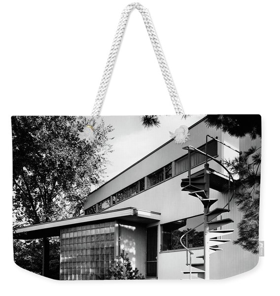 Outdoor Spiral Staircase To The Roof-deck Of Mr Weekender Tote Bag
