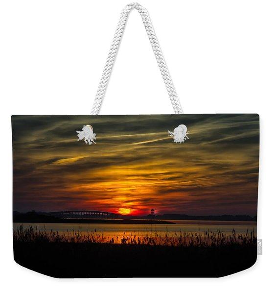 Outer Banks Sunset Weekender Tote Bag