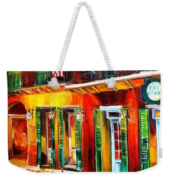 Outside Pat O'brien's Bar Weekender Tote Bag