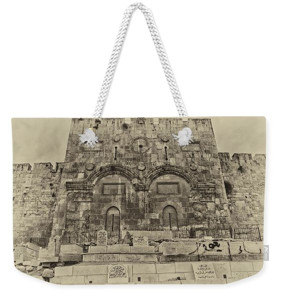 Outside The Eastern Gate Old City Jerusalem Weekender Tote Bag