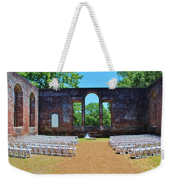 Outside Wedding Weekender Tote Bag