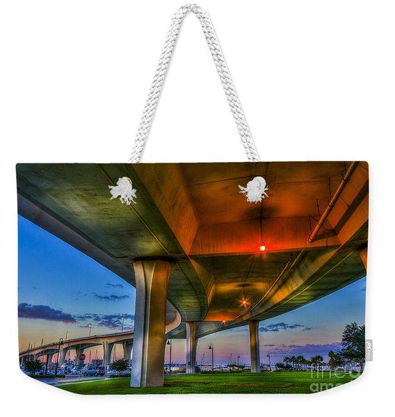 Over And Beyond Weekender Tote Bag
