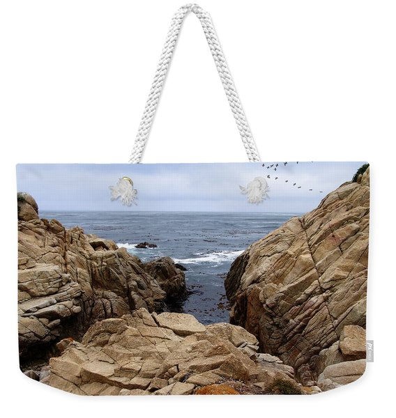 Overcast Day At Pebble Beach Weekender Tote Bag