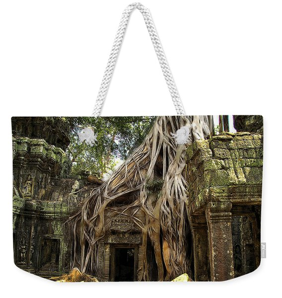 Overgrown Jungle Temple Tree  Weekender Tote Bag