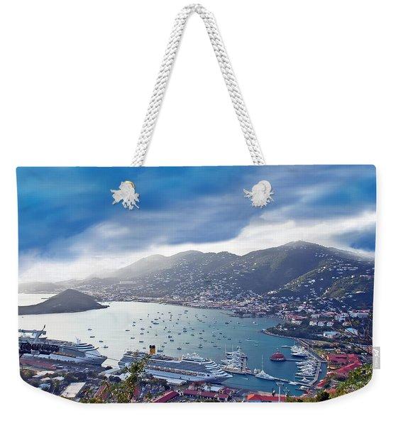 Overlooking The Bay Weekender Tote Bag