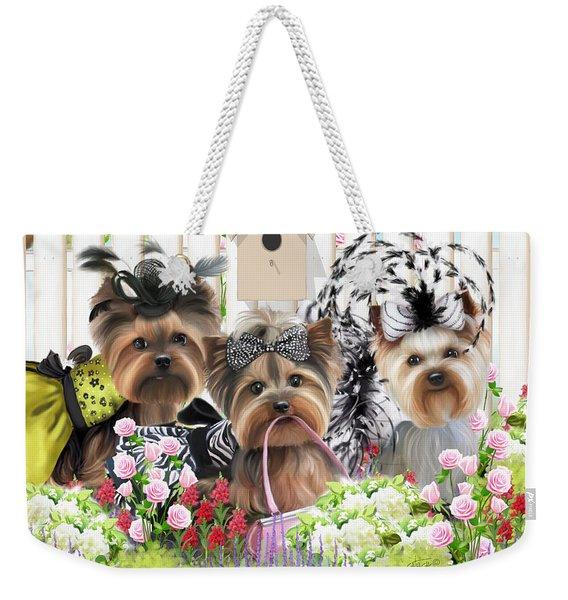 Owned By Yorkies II Weekender Tote Bag