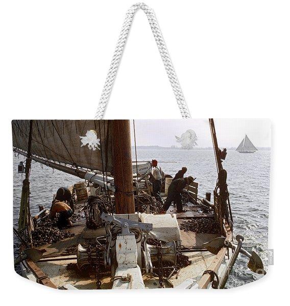 Oyster Dredge Boat Weekender Tote Bag