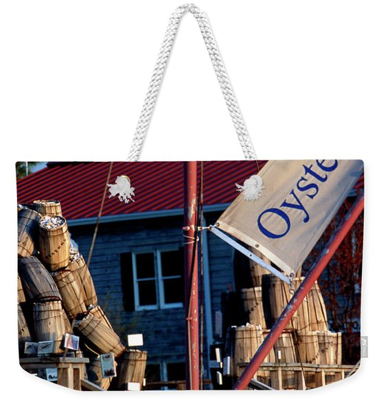 Oystering History At The Maritime Museum In Saint Michaels Maryland Weekender Tote Bag