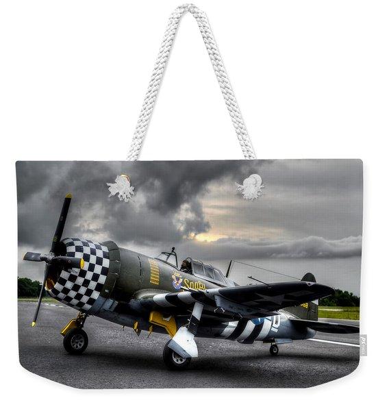 P-47 Sunset Weekender Tote Bag