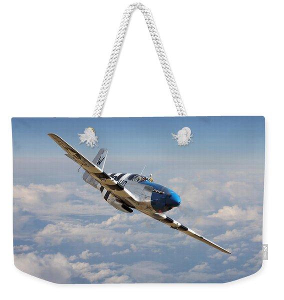 P51 Mustang - Symphony In Blue Weekender Tote Bag