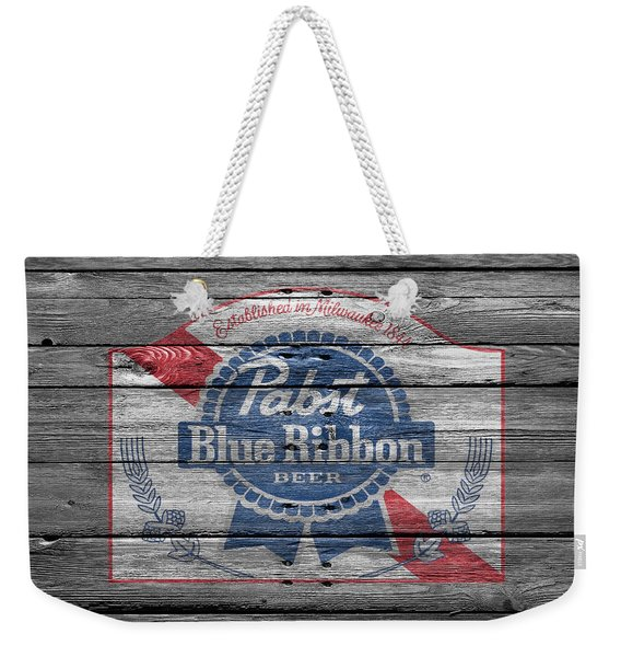 Pabst Blue Ribbon Beer Weekender Tote Bag