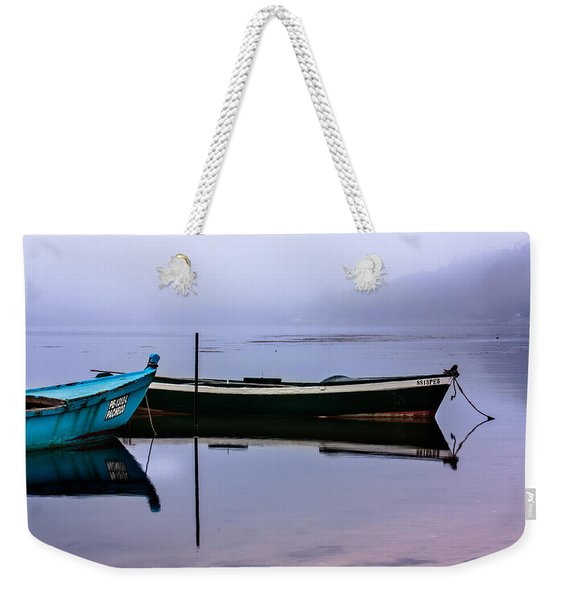 Pacheco Blue Boat Weekender Tote Bag