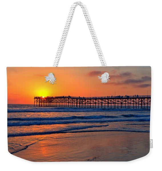 Pacific Beach Pier - Ex Lrg - Widescreen Weekender Tote Bag