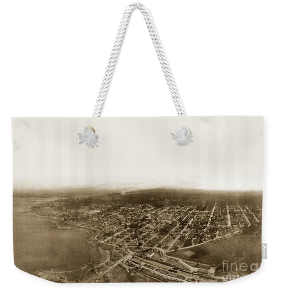 Pacific Grove 1200 From Feet Above Lovers Point And Monterey Bay 1906 Weekender Tote Bag