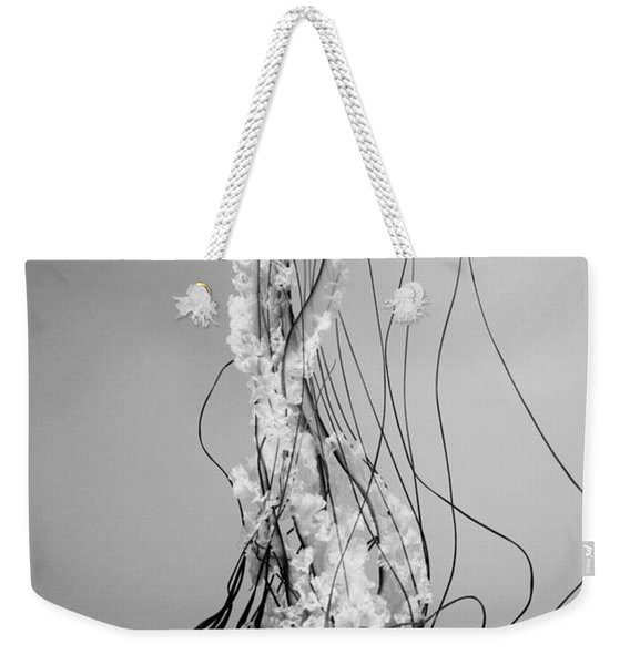 Pacific Sea Nettle - Black And White Weekender Tote Bag