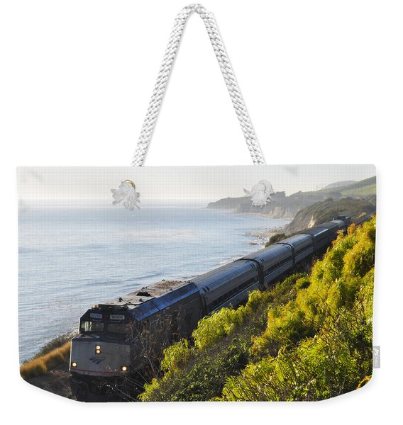 Pacific Surfliner Along The Central Coast Weekender Tote Bag