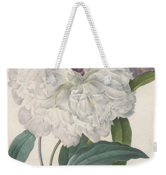 Paeonia Flagrans Peony Weekender Tote Bag