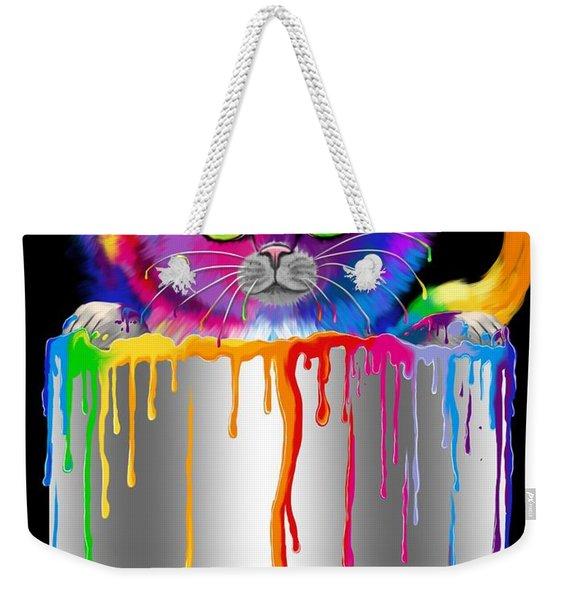 Paint Can Cat Weekender Tote Bag