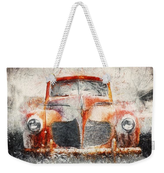 Painted 1940 Desoto Deluxe Weekender Tote Bag
