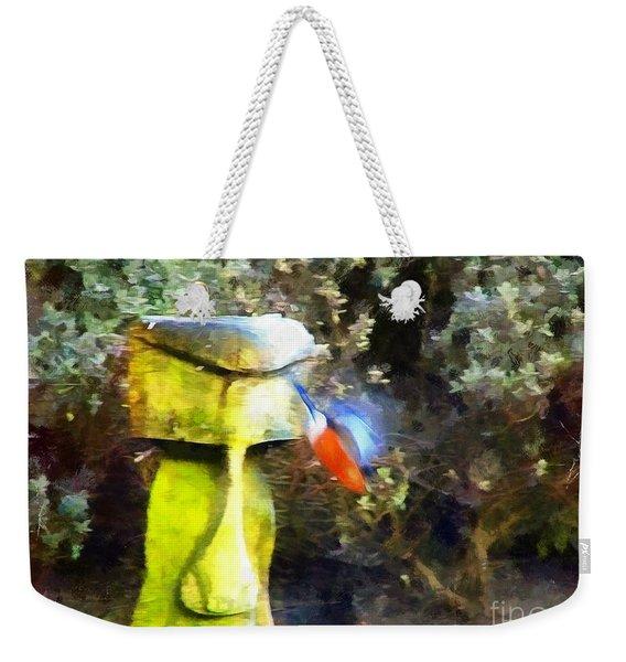 Painted Bullfinch S3 Weekender Tote Bag