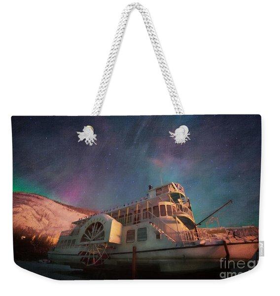 Painterly Northern Lights Weekender Tote Bag