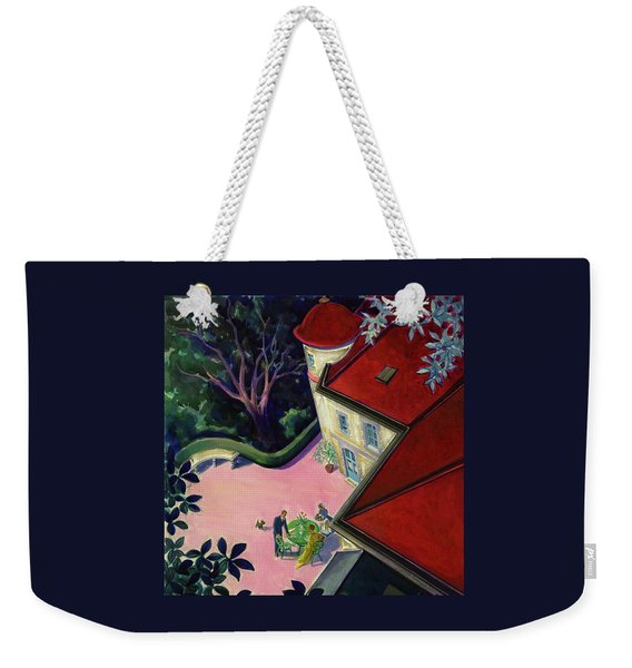 Painting Of A House With A Patio Weekender Tote Bag