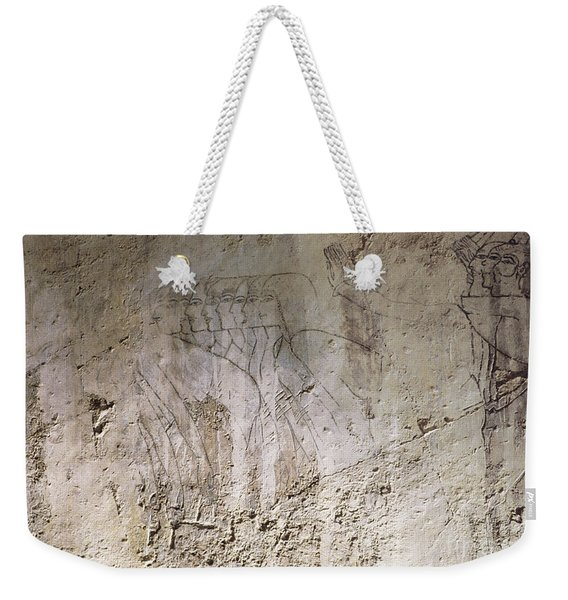 Painting West Wall Tomb Of Ramose T55 - Stock Image - Fine Art Print - Ancient Egypt Weekender Tote Bag