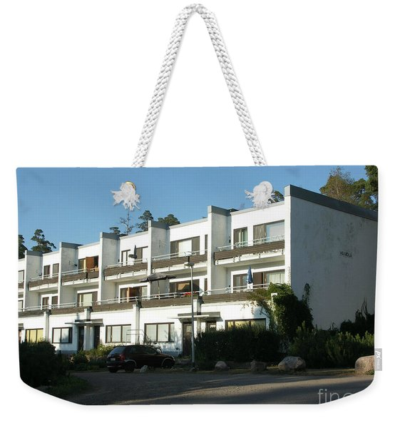 Paivola Building In Sunila Weekender Tote Bag