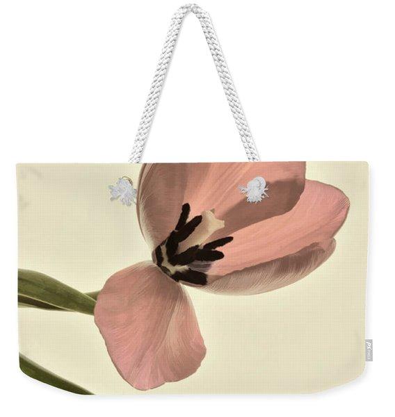 Pale Pink Tulip Weekender Tote Bag