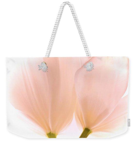 Pale Pink Tulips With Vignette Weekender Tote Bag