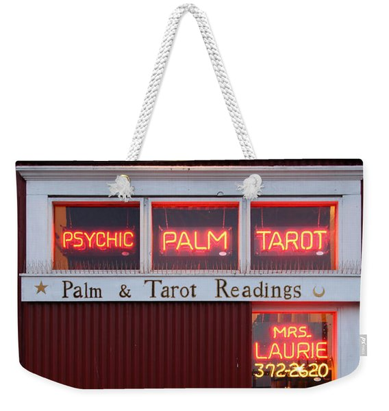 Palm And Tarot Readings On Monterey Cannery Row California 5d25166 Weekender Tote Bag